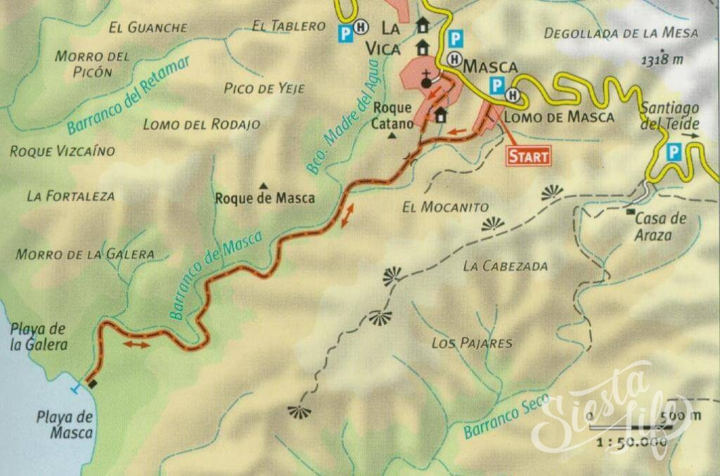 Стандартный пеший туристический маршрут по деревне и ущелью Маска