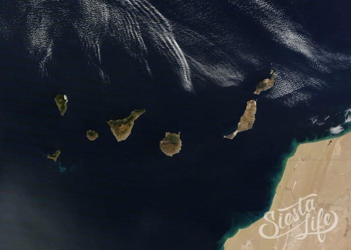 Канарские острова вид из космоса Siesta.life