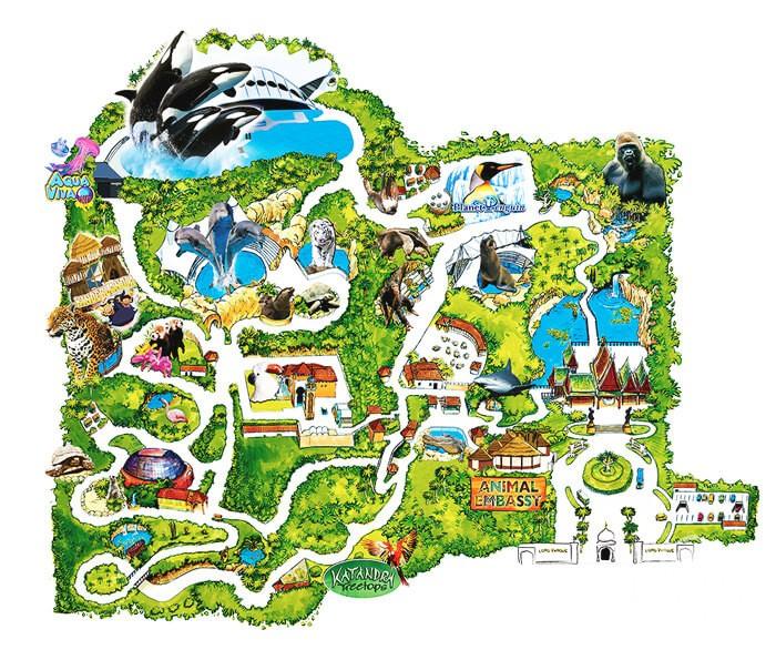 карта Лоро-парка