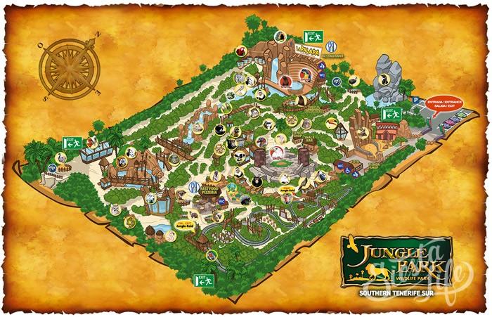 Карта Jungle park на Тенерифе