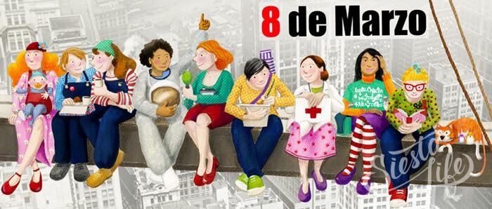8 марта в Испании день работающей женщины