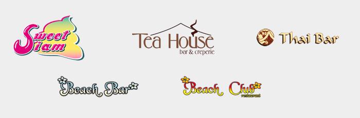 Логотипы кафе, баров и ресторанов на территории Сиам-Парка