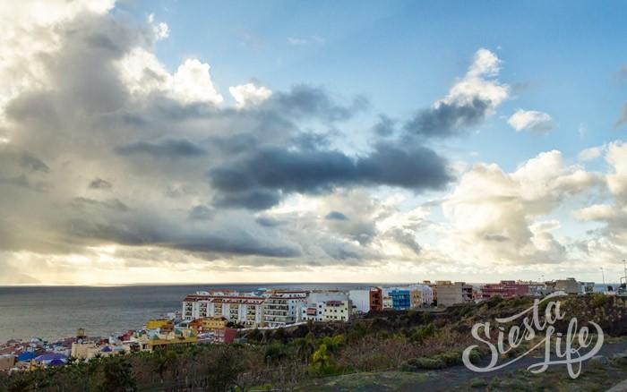 Закат сквозь облака на Тенерифе
