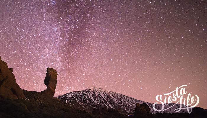 Звезды на ночном небе над Тенерифе