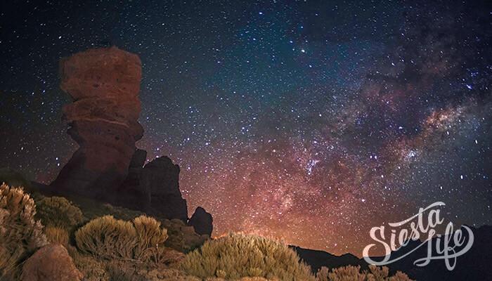 Здёздное небо над Тенерифе