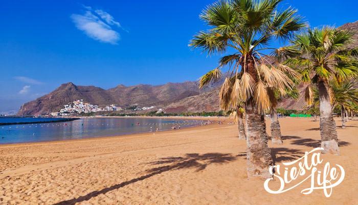 Пляж Лас Тереситас на севере Тенерифе