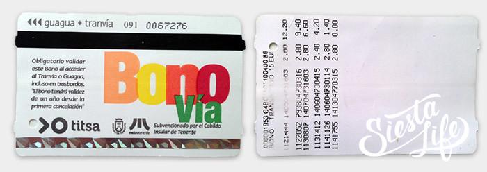 Карточка Боно бус / Bono Bus для автобуса на Тенерифе