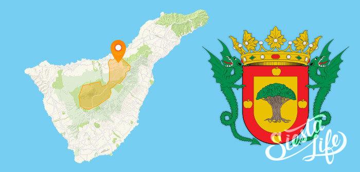 Карта и герб Ла Оротава на Тенерифе