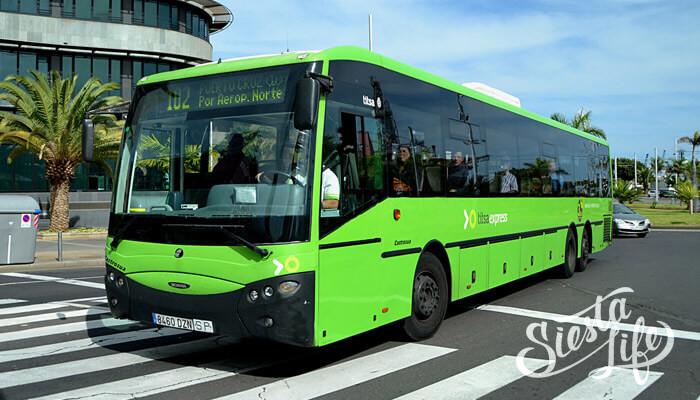 Внешний вид автобусы на Тенерифе